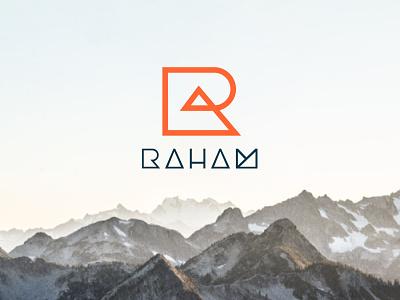 R + Mountain Logo mountain logotype visual identity brand design minimalism brand identity logo design logos logo monogram r logo identity minimal flat design branding