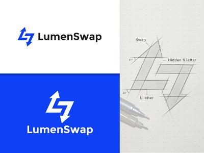 LumenSwap logo exchange logo swap logo ls logo sl logo monogram logotype design flat minimalism visual identity brand design minimal identity brand identity branding brand logo design logodesign logos logo