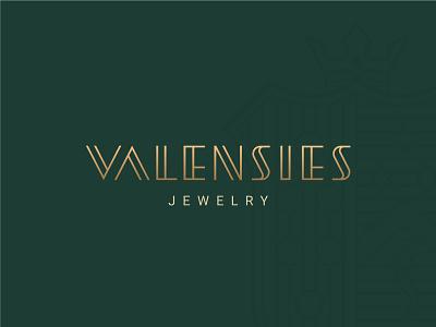 VALENSIES™ LogoType jewelry jewels logotype identity visual identity brand identity brand branding minimal brand design logo design logo