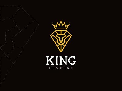 King Jewerly Logo brand design brand branding jewelry king visual identity identity brand identity minimal logo design logo