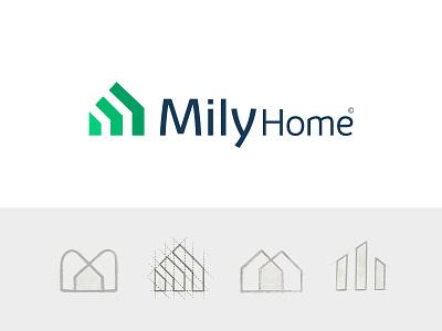 M + Home logo letter logotype home logo monogram logo minimalism visual identity branding logo design identity brand brand design minimal monogram logo logos
