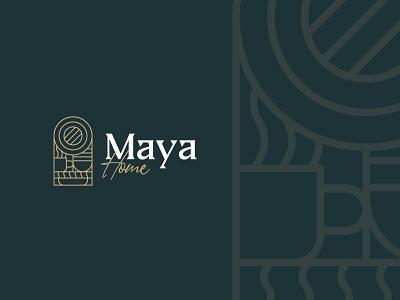 Maya Home minimal brand identity visual identity minimalism branding brand identity brand design logo design logo