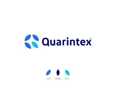 Quarintex™ Logo graphic design ui branding design identity brand brand identity minimal brand design logo design logo
