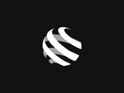 Globe logo designer monochrome 3d graphic design globe branding ui identity design illustration brand identity brand brand design minimal logo design logo