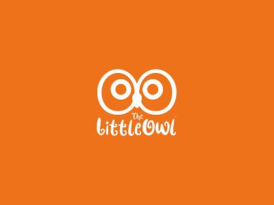 Little Owl Logo minimalism minimal logo hand-script baby children kids product kids logo owl illustration design brand identity branding brand design brand identity logo design minimal kids logo