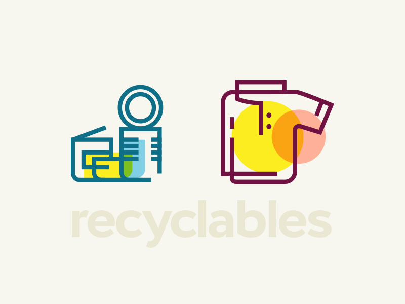 Trendy Recyclables #1 outline icon cloth can recycle eco