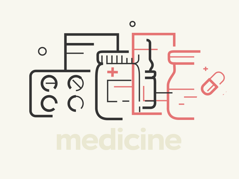 Trendy Medicine aid drugs medicine jar pills