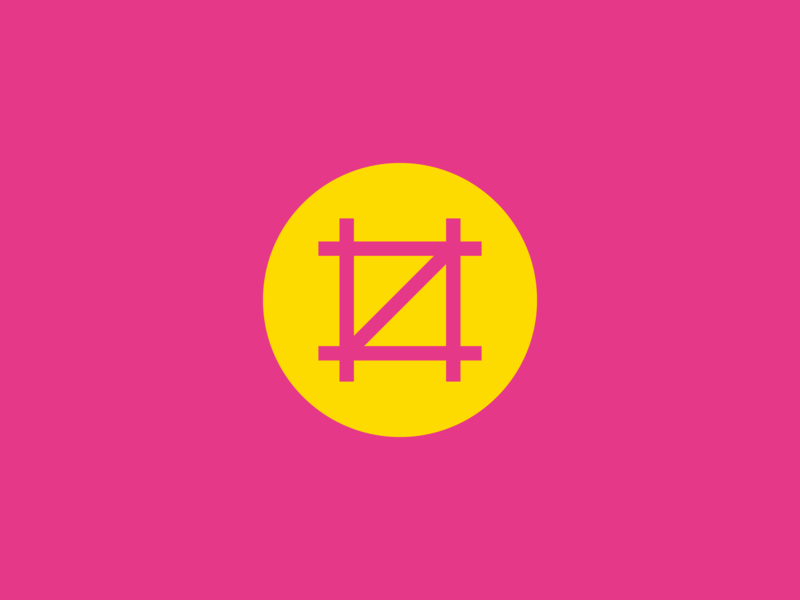 Ideal Scaffold social mark logo roundel scaffolding minimal social media illustration mark symbol vector identity icon flat design construction business bright branding identity branding brand agency