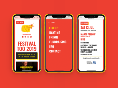 Festival Too website