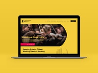 Shakespeare's Guildhall Trust website concept