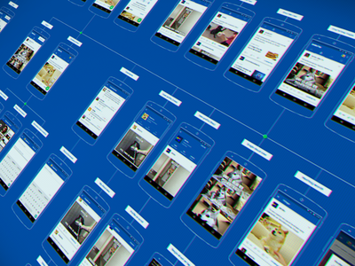 Taringa Shouts! App flow cards application navigation social ui material android mobile app flow