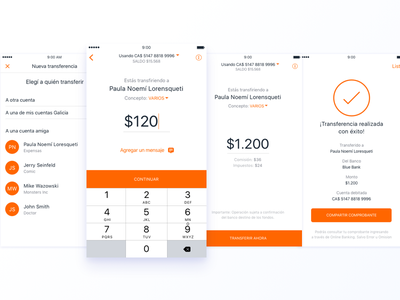 A designer's dream home banking material design ui ux payment transference banking android ios app