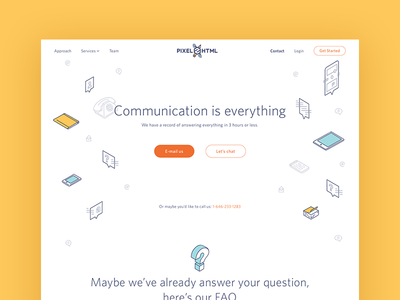 A simple Contact Page website faq phone mail ux ui contact landing