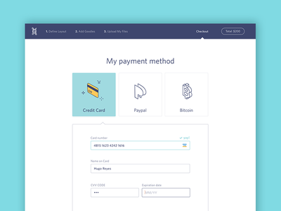 Checkout credit card payment paypal order form ui checkout