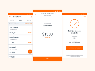 1, 2, done! material design boom payment banking material ios android ux ui app