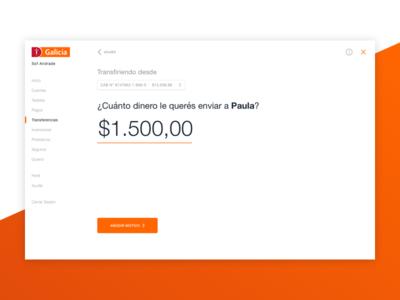 A new online banking send money natural language online banking ui ux flow fintech payment