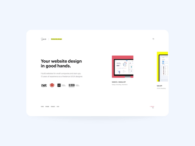 🔥 Portfolio 2020: darinka design grid layout horizontal scroll designer portfolio designer clean minimal website landing homepage site web portfolio