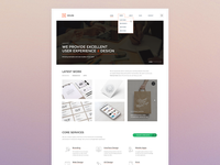 Homepage Design for a New Template