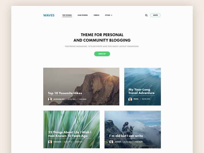 Medium-like minimal blog theme