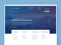 Landing Page for a Cloud Company