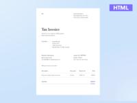 Invoice Freebie - HTML file