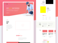 Design Excercise / WIP : Onepager for a VC firm