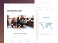 Agency homepage design (wip)