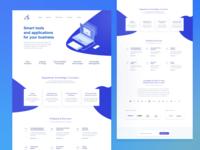 Tech site design focused on content