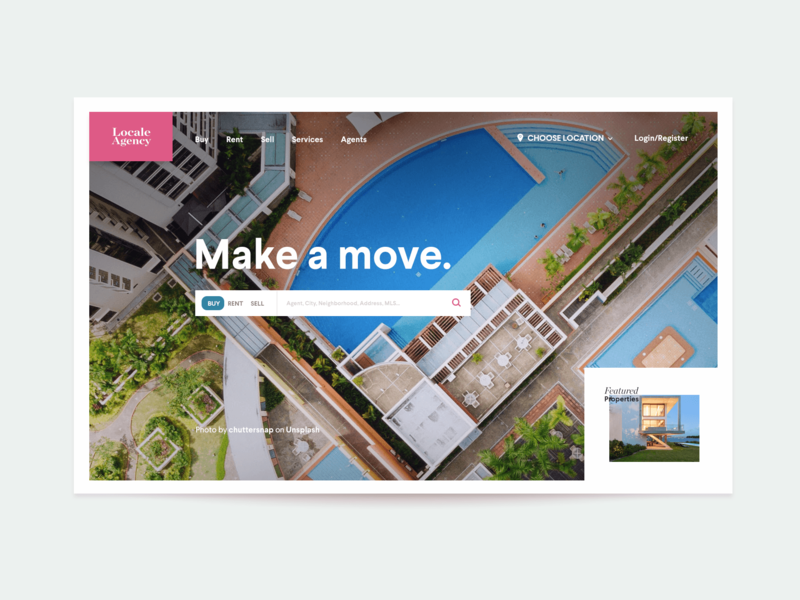 Real Estate Homepage Header Exploration search box search form real estate agency architecture property header agency real estate website landing homepage site web