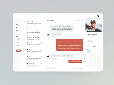 New Gmail - the Future of Email chatbot chat messenger google inbox gmail app email ui dashboard