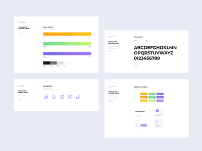 Elements of a web project components buttons typography color scheme style guides style guide design systems design system
