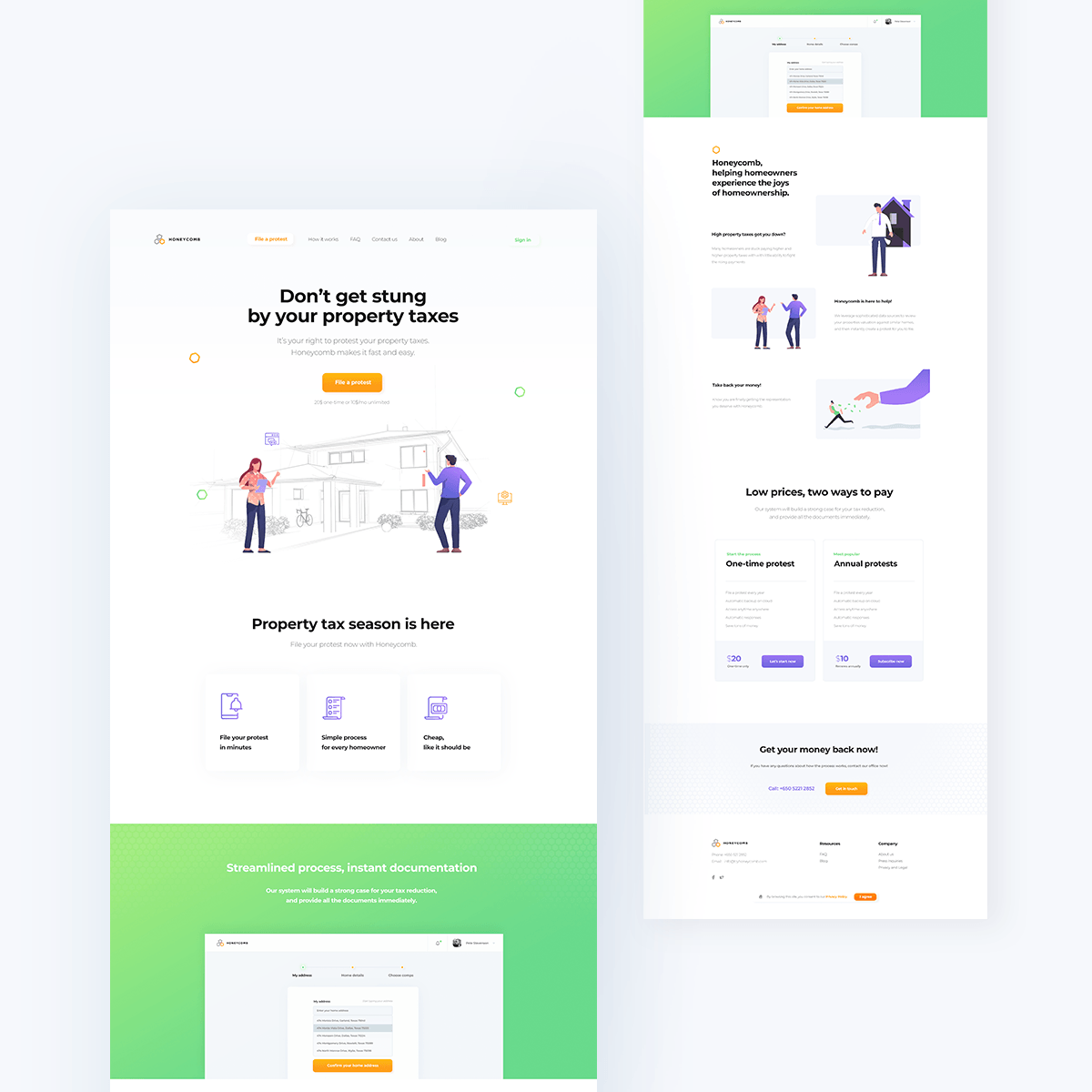 website UI/UX design