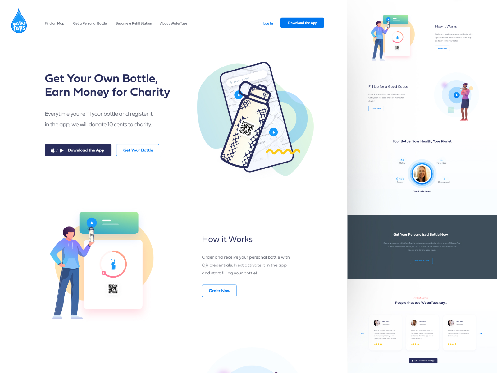 Water refill website UI/UX design