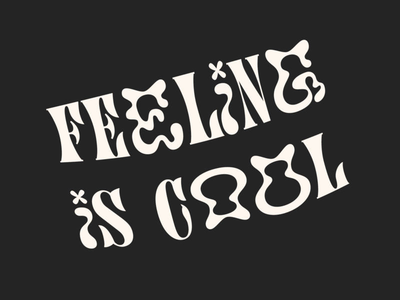 feeling is cool quote quotes quote font typeface typogaphy graphic design design adobe photoshop 2020 type