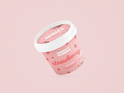 Frosty Scoops Ice Cream packaging design packaging logotype graphic design color palette branding design brand design typography branding brand identity logo ice cream 2020 adobe photoshop