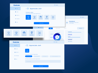 Cool.me application - wireframe high fidelity hi-fi wireframe prototype ux design ux