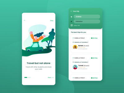 Carpooling App Concept