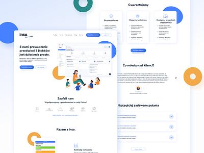 Inso website kindergarten blue design ux design uidesign