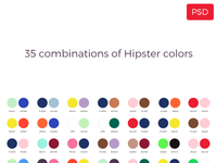 35 Combination of Hipster Colors