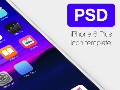 Free Icon Template for iPhone6 Plus plus iphone6 ios9 template psd apple icon ios iphone free