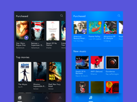 itunes Store home screens concept