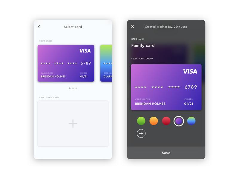 Select card 2x