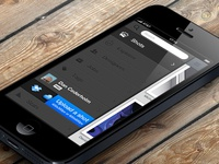 Dribbble navigation for iPhone 5