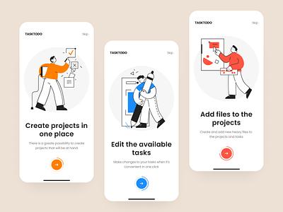 Onboarding screens - App design illustration design app ui ux mobile