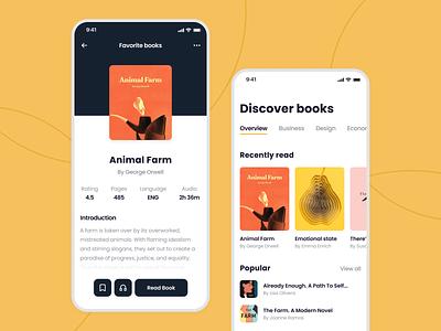 E-Book Mobile App audio book ebook app mobile design audiobook reading minimalistic book store education ebook books reader app library ios app mobile app ux ui