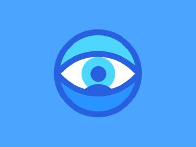Oculus Mei Logo illustration illustrator sketch blue circle person logo eyeball