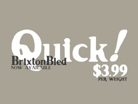 Brixton Bled Font - Available for Download