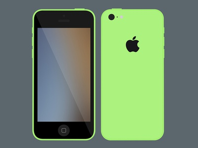 Flat iPhone 5c Mockup Download