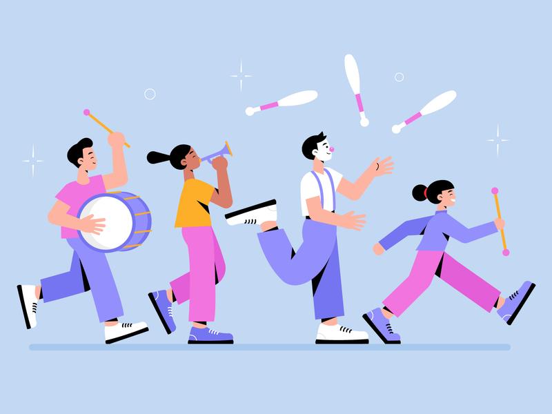 Carnival dancers collection woman men freepik free free resource vector character concept illustration flat designs flat design
