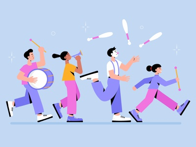 Carnival dancers collection woman men freepik free free resource vector character concept illustration flat designs flat design